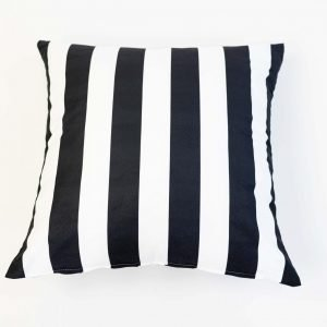 vloerkussen zwart wit gestreept