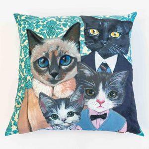 vloerkussen kattenfamilie