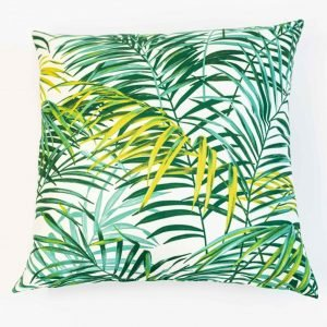 Vloerkussen groene palmbladeren