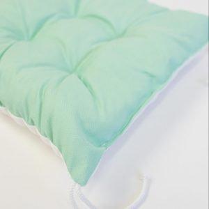 Gezwollen stoelkussen Clara - turquoise