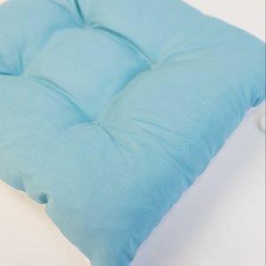 Gezwollen stoelkussen Esther - lichtblauw