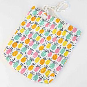 Tas gekleurde ananassen