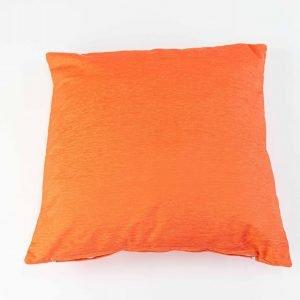 Chenille sierkussensloop Orla - Oranje