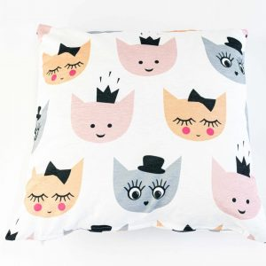 Chenille sierkussensloop Zoja - Schattige katten