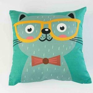 Sierkussensloop Tea - blauwe kat