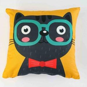 Sierkussensloop Tea - zwarte kat