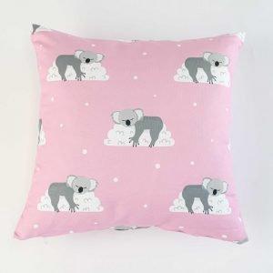 Sierkussensloop Otto - slapende koala's roze