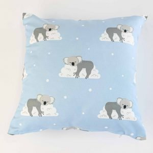 Sierkussensloop Otto - slapende koala's blauw
