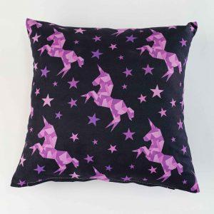 Sierkussensloop Verna - paarse unicorns