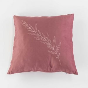 Suède sierkussensloop Avice - Tarwe plant roze