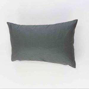 Rechthoekig sierkussens Ana - Staal grijs